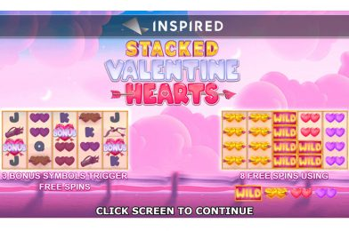 Inspired Launches Stacked Valentine Hearts Slot Machine