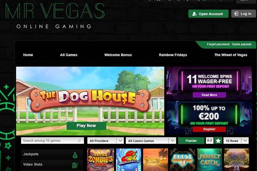 Mr Vegas casino is licensed in Sweden