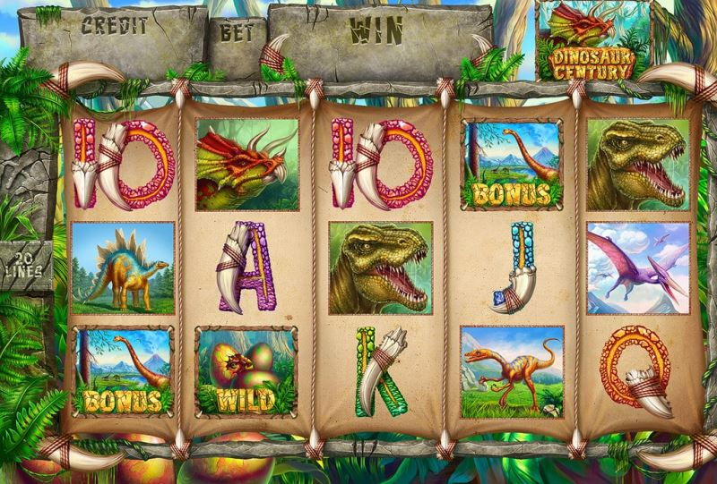 Slot machine - Dinosaur century