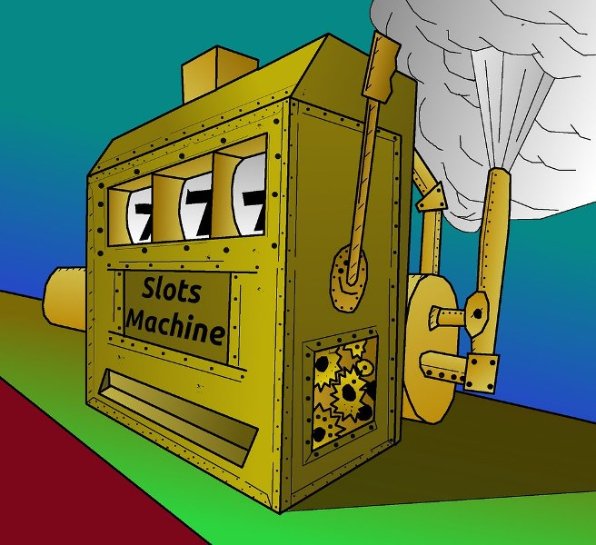 A picture about the history of slot machines